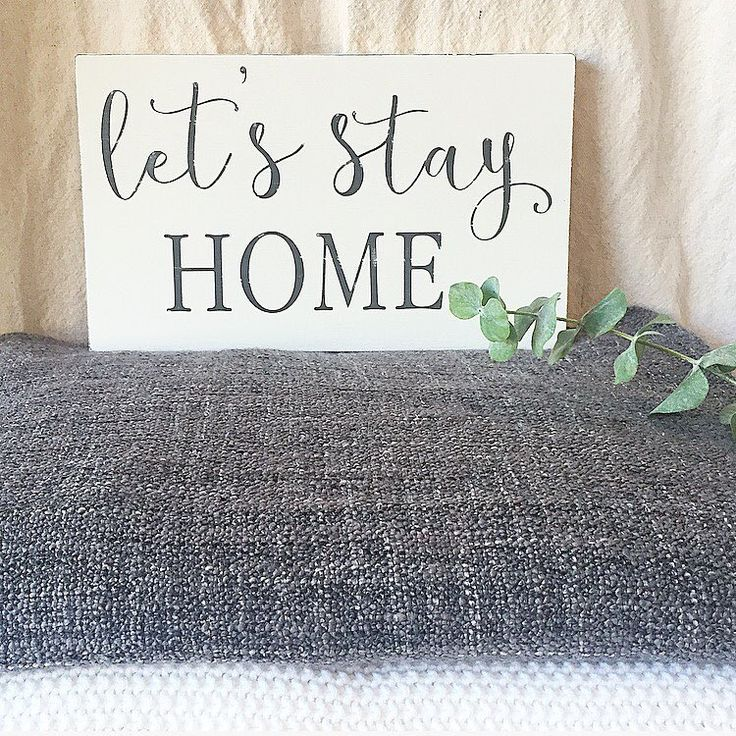 """Let's get started! 1. Wooden Painted Sign - """"Let's Stay Home"""" $29 SHIPPED…"""