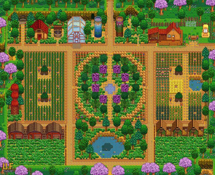 Farm Plan Render Upload Farm Stardew Valley Summary Generator Stardew Valley Stardew Valley Layout Farm Layout