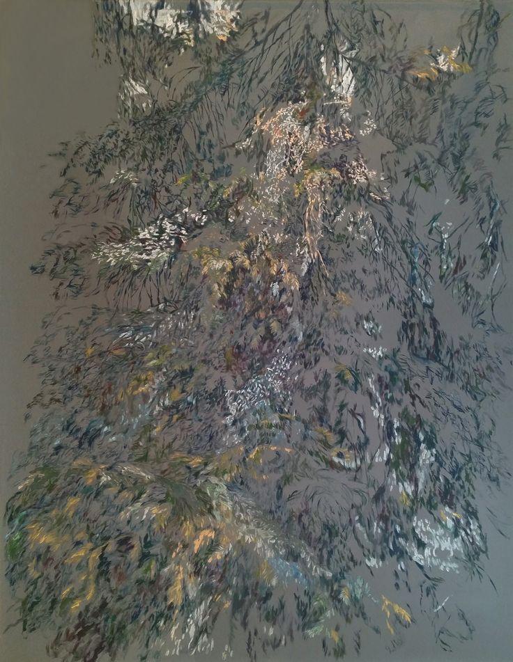 Forest II / Metsä II, 2017, acrylic on canvas, 180 x 137 cm. @katjaharkki #katjaharkki