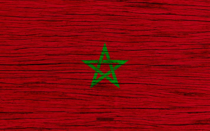 Download wallpapers Flag of Morocco, 4k, Africa, wooden texture, Moroccan flag, national symbols, Morocco flag, art, Morocco