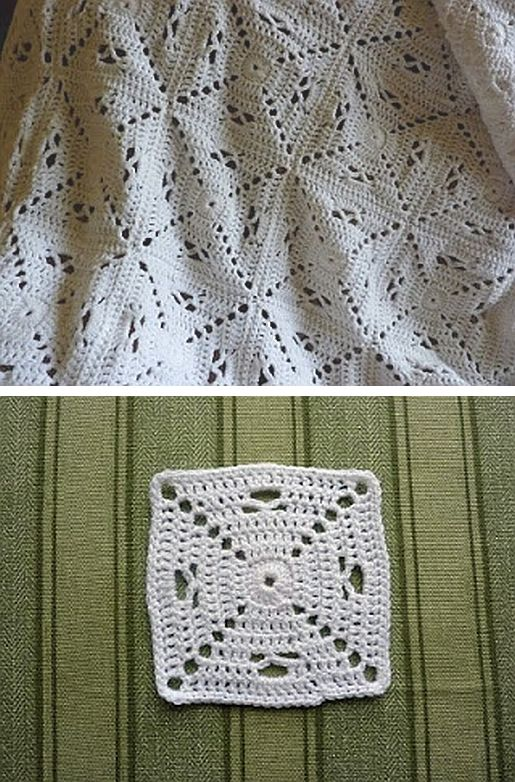 Granny square variation, free pattern from YellowPinkAndSparkly . . . ღTrish W ~ http://www.pinterest.com/trishw/ . . . #crochet #motif