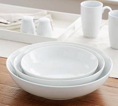 THIS ONE!!!!!!!!!  Every time you grab a bowl you'll think of the shower gift Aunt Jenny gave you.  Perfect gift to give.  Great White Coupe Serve Bowls, Set of 3 #potterybarn