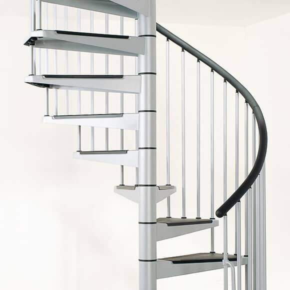 Civik Classic Interior Steel Staircase Stainless Steel Handrail | Stainless Steel Staircase Price | Iron | Helical Staircase | Small Steel | Black Steel | Spiral