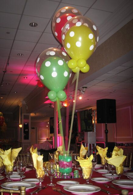 179 best balloon centerpieces images on pinterest for Balloon decoration guide