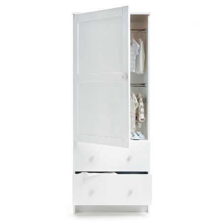 OBaby Single Wardrobe-White (New) The Obaby single wardrobe is the perfect accompaniment to your little one?s nursery, providing lots of room for keeping your baby?s outfits looking their best. In a stylish, modern design, it will com http://www.MightGet.com/march-2017-1/obaby-single-wardrobe-white-new-.asp