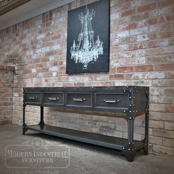 Modern Industrial Sofa Table Entryway, Industrial Furniture Design Ideas