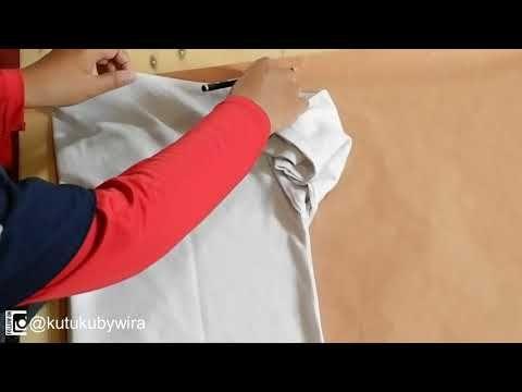 Cara Menjahit Gamis Untuk Pemula (Teknik Kloning) - YouTube