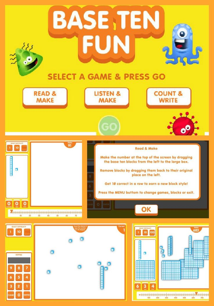 Great interactive game for math (place value) via @ABCyaGames - Base Ten Fun!