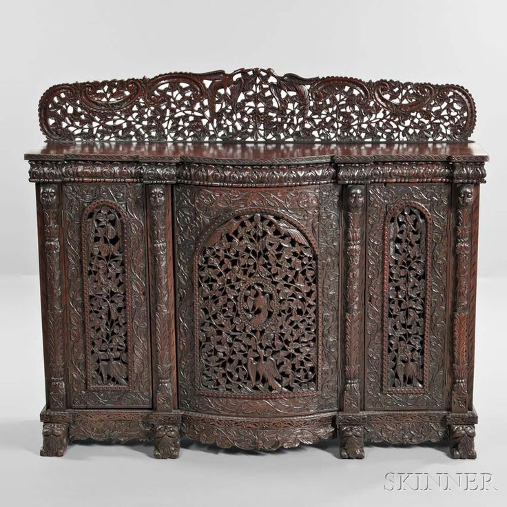 Anglo-Indian Carved Hardwood Sideboard, early 20th century. | Lot 598 | Auction 2975B | Sold for $1,599