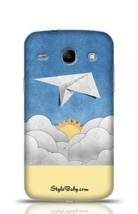 Aircraft Recycled Paper On Blue Sky Samsung Galaxy Core i8262 Phone Case
