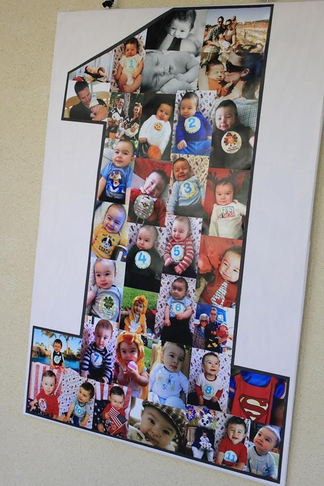 First Birthday Party. We made a one & filled it in w/all the pictures of his first year!