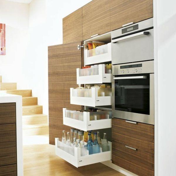 17 meilleures id es propos de armoires en bois clair sur for Idee armoire de cuisine
