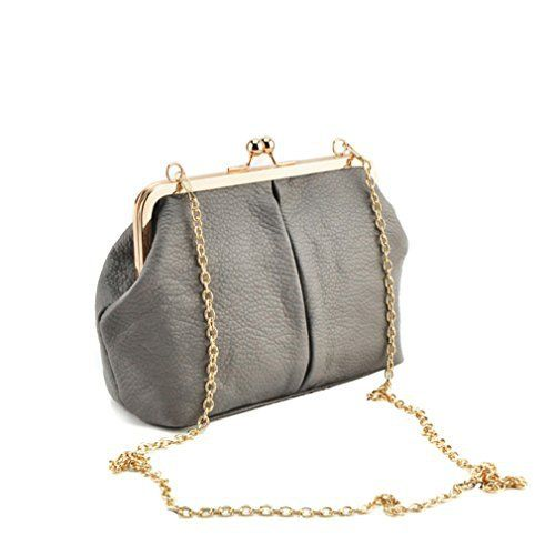 New Trending Clutch Bags: Hoxis Kiss Lock Framed Clutch Womens Cross Body Handbags Gray. Hoxis Kiss Lock Framed Clutch Women's Cross Body Handbags Gray  Special Offer: $16.90  177 Reviews Sleekly styled for quick trips or an evening out, this versatile clutch flaunts antique appeal with an optional chain-link strap that can be discreetly hidden within. •47″L...