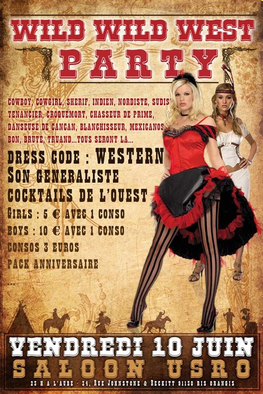 #Poster Wild Wild West Party  2011
