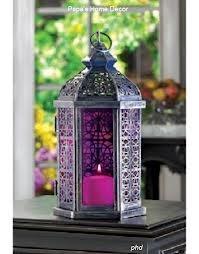 Exotic Amethyst  Purple Candle Lamp Moroccan Purple Lantern Indian Wedding Decor Sangeet Decor Mehndi Decor Wholesale Lanterns, 58% off | Recycled Bride