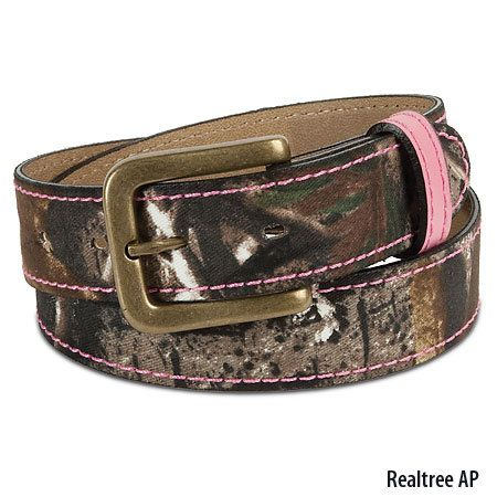 camo and pink belt