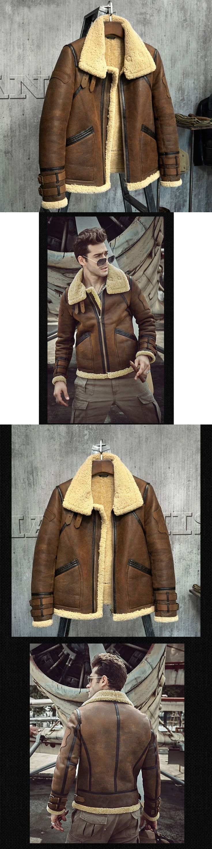 Fur Coat Men's Shearling Jacket B3 Flight Jacket Short Fur Leather Jacket Imported Wool From Australia Men's Sheepskin Aviator P