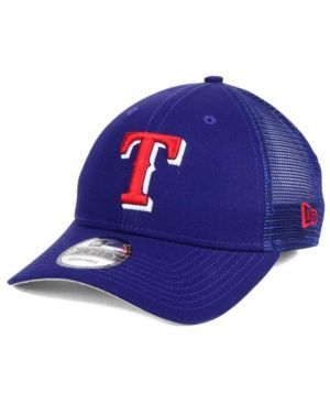 New Era Texas Rangers Team Trucker Patch 9FORTY Snapback Cap - Blue Adjustable