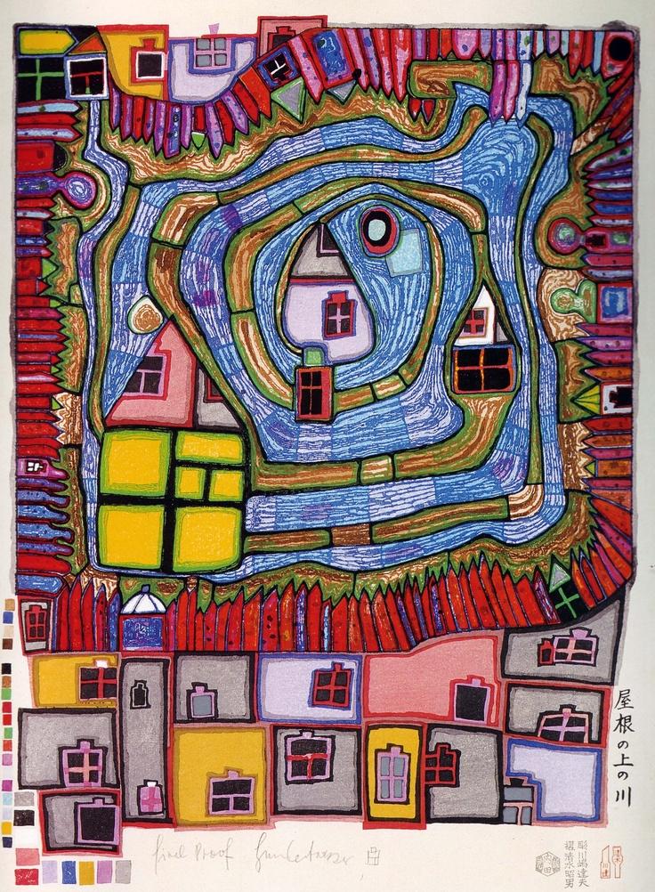 Famous Straight Line Artists : Best ideas about hundertwasser on pinterest art