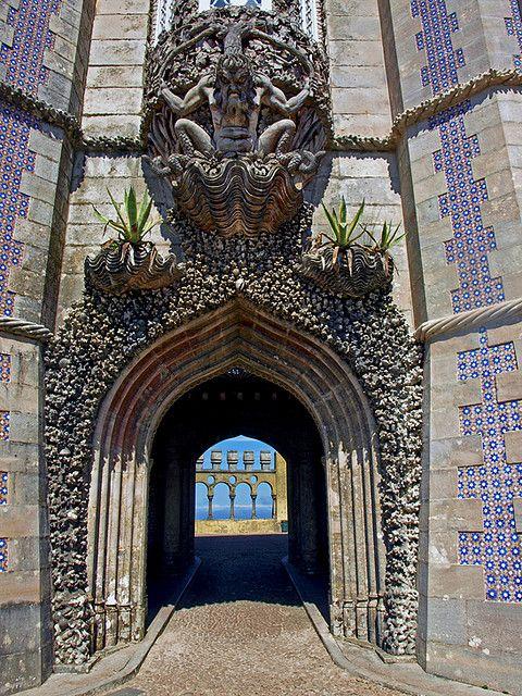 Monster doorway, Pena Palace, Sintra, Portugal