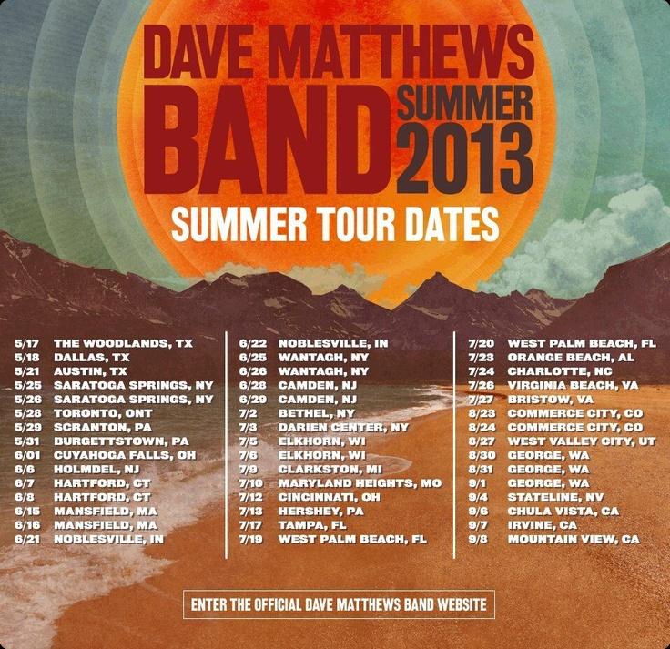 Dave Matthews Band Tour 2014