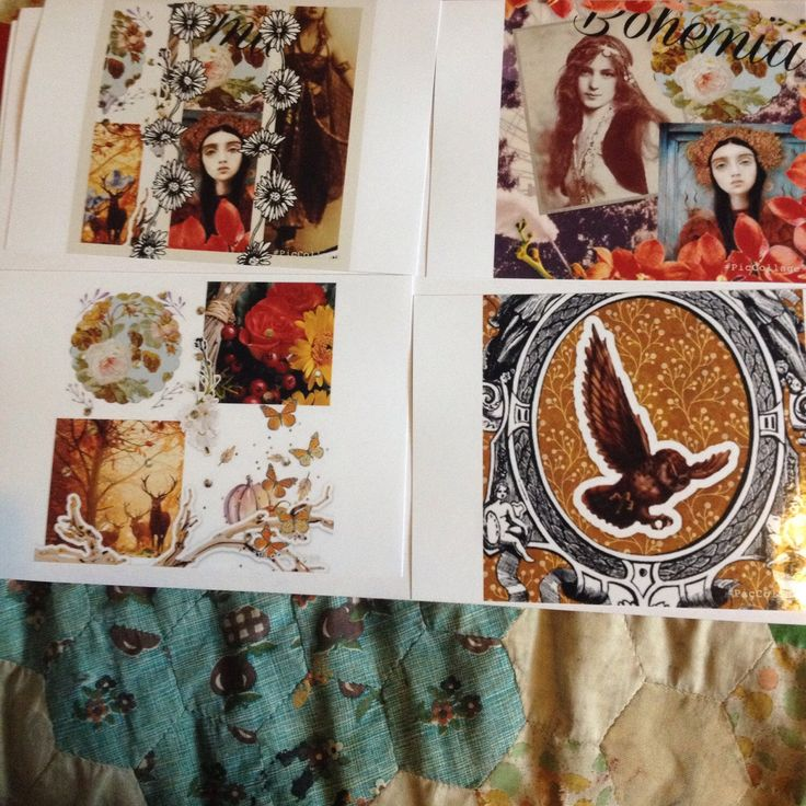 New items of stock yet to be framed and listed 6x4 prints of bohemian and autumnal themed images created on pic collage