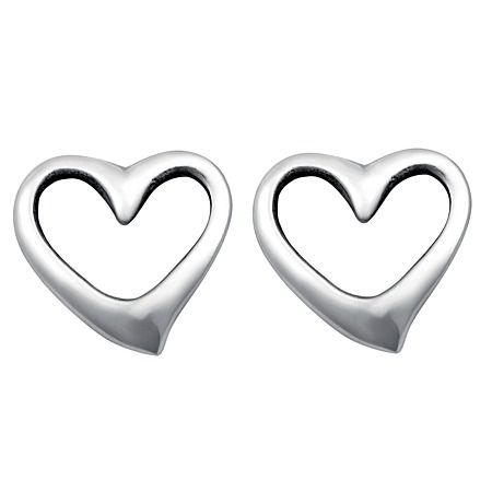 Sterling Silver Mini Heart Stud Earrings