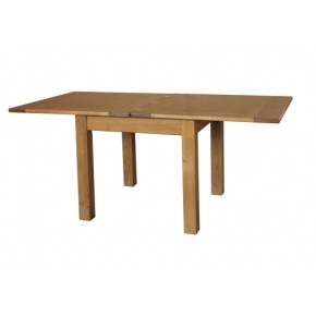 Rustic Solid Oak SRDT05 3x3 Flip Top Dining Table  www.easyfurn.co.uk