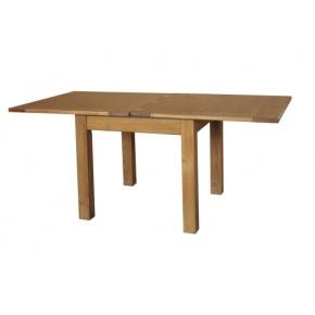 Rustic Solid Oak SRDT05 3x3 Flip Top Dining Table  www.easyfurn.co.uk