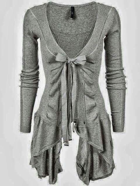 Ribbed asymetric cotton cardigan