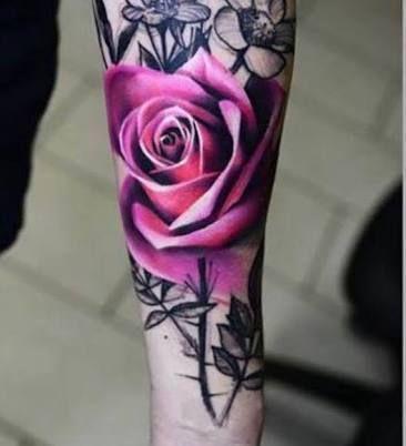 Resultado de imagem para realistic black and white flower tattoos