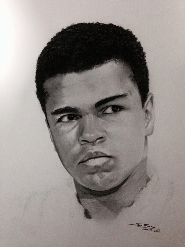 Ali I drew this by using carbon pencils and graphite pencils.