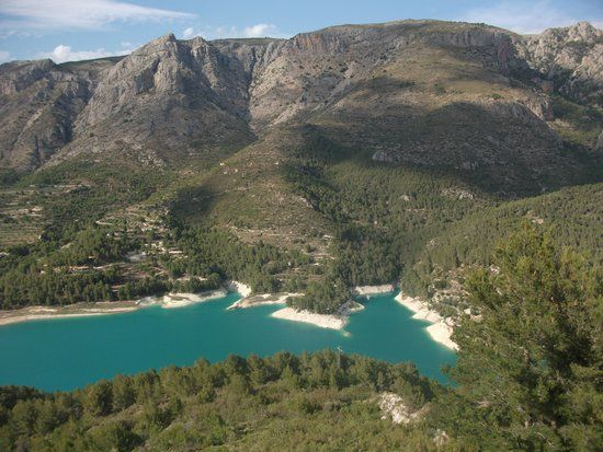 Castillo de Guadalest,beautiful views of the lake  from the wonderful castle