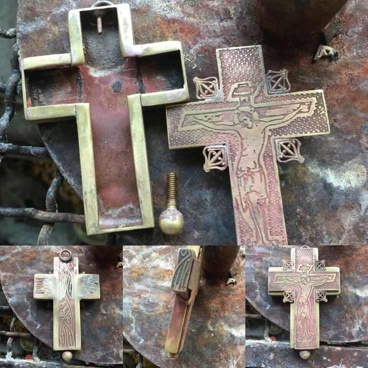 Hand Made Metal Orthodox Religious Cross from Greece