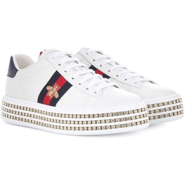 Gucci Ace Platform Leather Sneakers ( 1 b5f73e381be