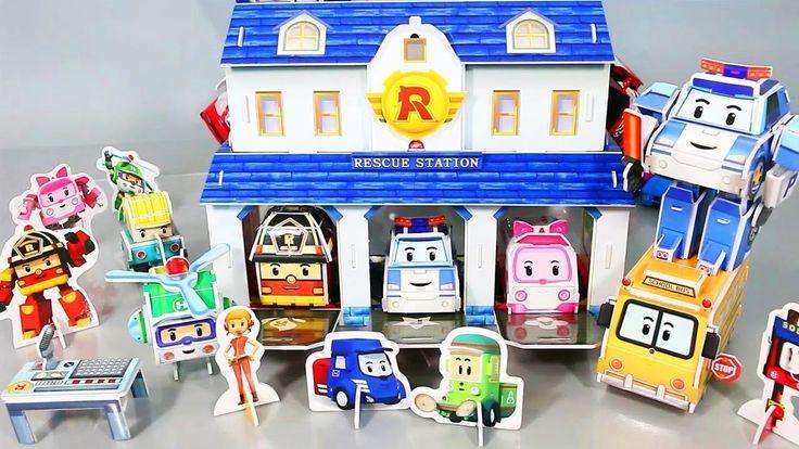 Robocar Poli Papercraft Paper Kit Police Car Ambulance Toy for kids with tomica tayo robocar Poli http://youtu.be/-AEss7aJpWo