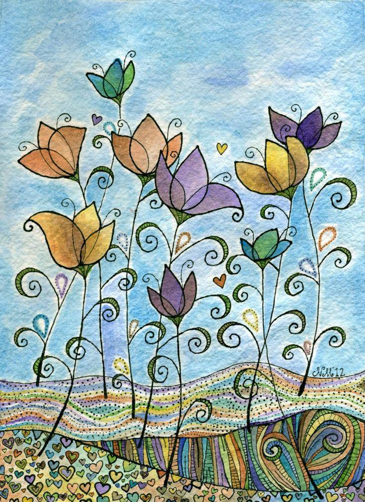 Shish-ka-Bob watercolor painting