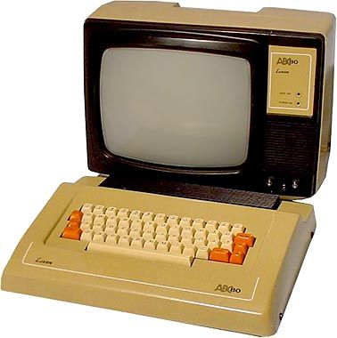 This is the swedish Luxor ABC-80. Designed during the late 70:s and released 1978 it was named ABC-80 to reflect that it was something new and fresh for the coming 80:s. The beige brown color is painted on plastic and was often worn badly why good ones now are pretty rare.