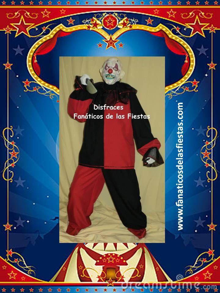 Disfraz de Payaso Diabolico  Nuevos Precio venta 26.000 pesos  Tallas M-L