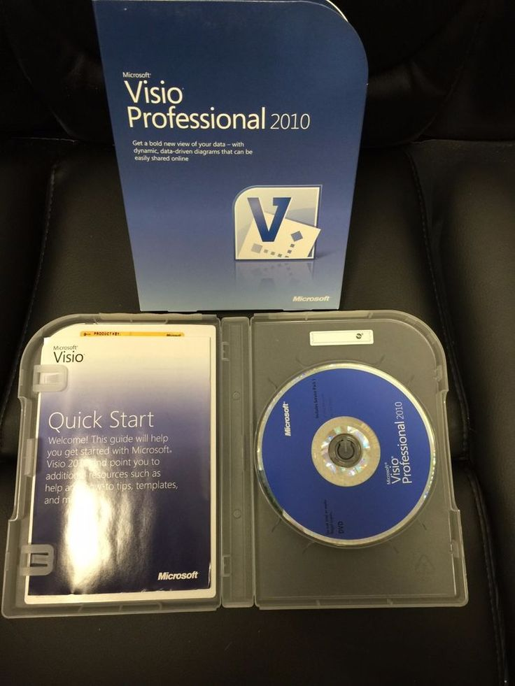 Microsoft Visio Professional 2010 32 Bit 64 Bit English Us Only Used Clean