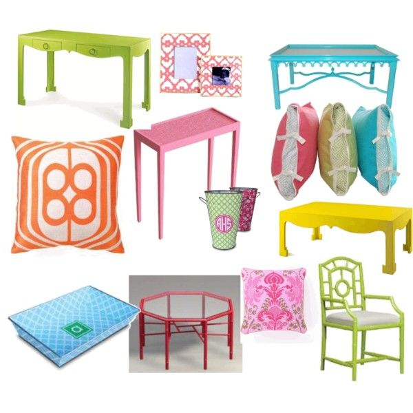 Love the colors of each of these pieces: Paintings Furniture, Colors Colors, Cute Cool And Colors, Decor Ideas, Add Colors, Colors Palettes, Colors Blockin, Green Chairs, Bright Colors