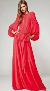 vestidos largos con mangas largas - Buscar con Google
