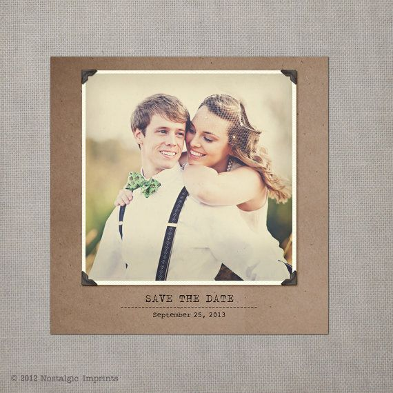 Vintage Save the Date Card  the Yasmine 2 by NostalgicImprints, $38.00