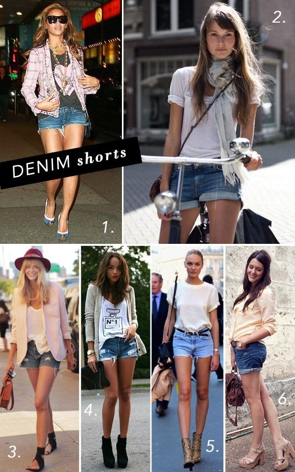 style file: denim shorts