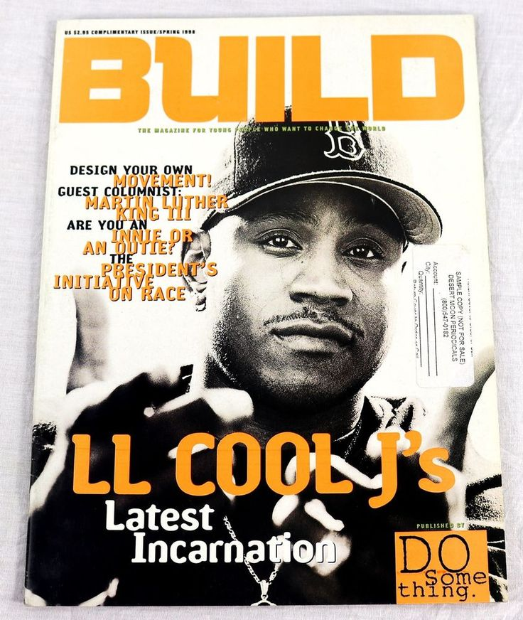 Build Magazine Spring 1998 LL Cool J Martin Luther King III Uprising Chris Cuomo