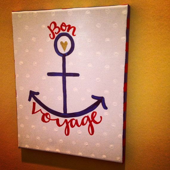Anchor Bon Voyage Canvas
