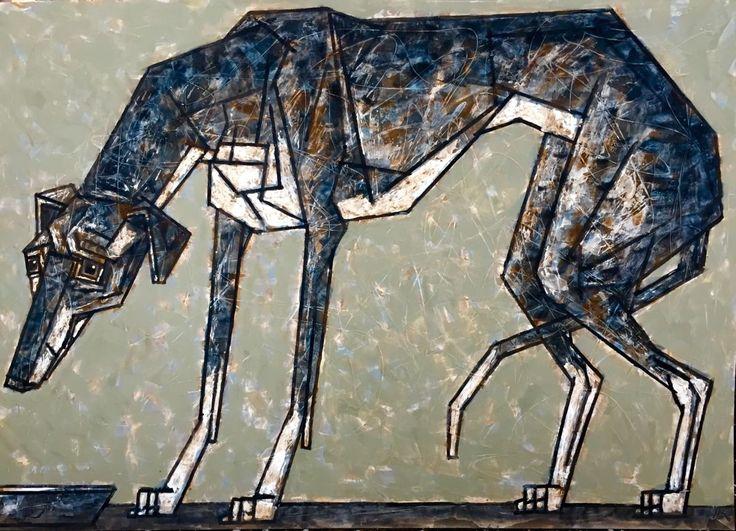 ЛЕВРЕТКА/ piccolo levriero italianо (Картина),  100x70 cm - DMITRIY TRUBIN Левре́тка (международное название piccolo levriero italiano) — собака декоративной породы (другие названия — малая итальянская борзая, итальянский грейхаунд).
