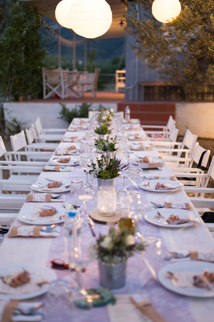 Table setting in lavender