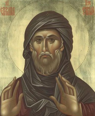 """""""Μακάριος είναι αυτός που αναγκάζει τον εαυτό του να υπομένει τα βάσανα, γιατί μέσω της οδού του θρήνου θα εισέλθει στη Βασιλεία των Ουρανών."""" (Όσιος Εφραίμ ο Σύρος)"""