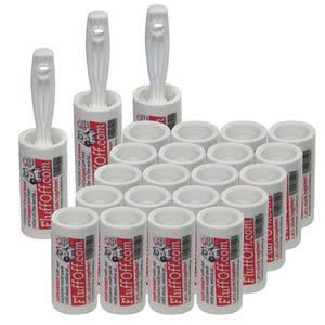 Buy The #Caraselle pack of 3 x FluffOff Sticky Roller Brushes & 20 x Roller Refills.. Ideal for Clothing, Car Seats & Upholstery and also Removes #Lint, Dog & Cat Hairs etc.. Get online here: www.caraselledirect.com/_/the_caraselle_pack_of_3_x_fluffoff_sticky_roller_brushes_20_x_roller_refills.2753-1